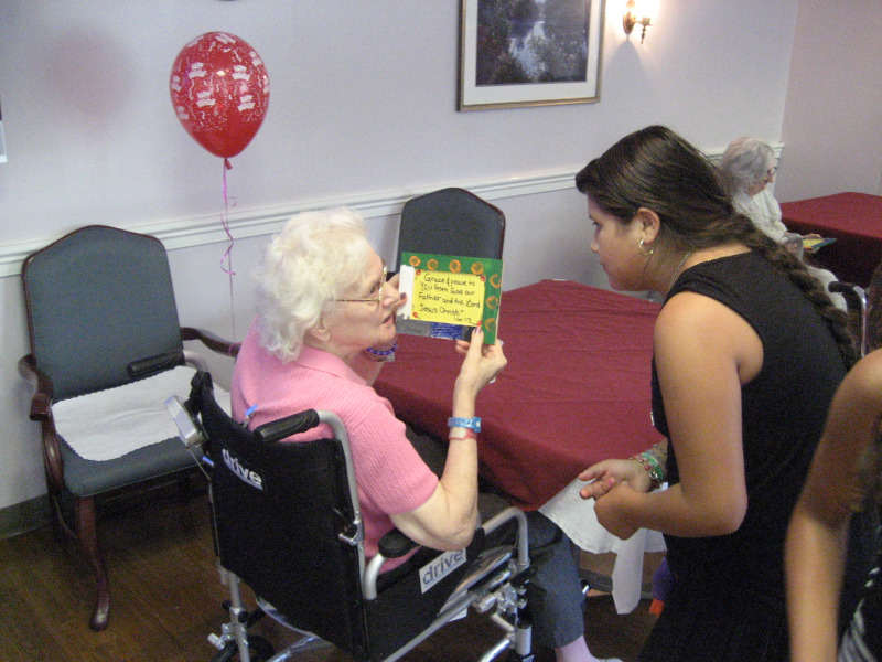Kids Club Gives Back:  Visiting Local Nursing Home, July 2010